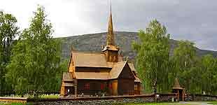 Ставкирка в Ломе, Норвегия