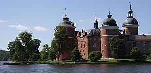 Mariefred и замок Грипсхолм, Швеция.
