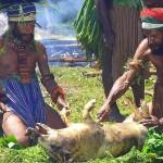 Фестиваль в Маунт Хагене в Папуа Новой Гвинее фотографии
