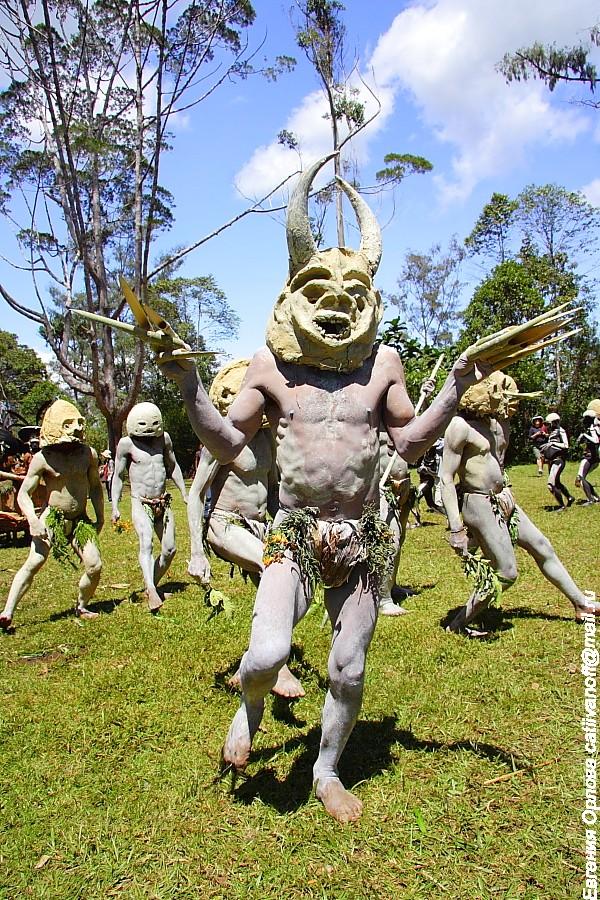Фестиваль в Маунт Хагене Папуа Новая Гвинея фото