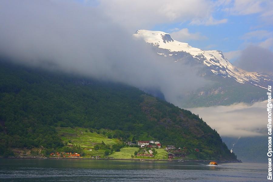 Geirangerfjord photo Гейрангер фьорд фото